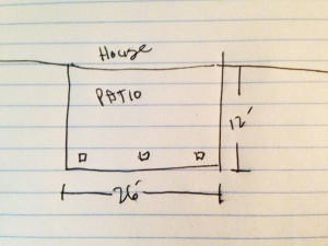 Sketch patio size